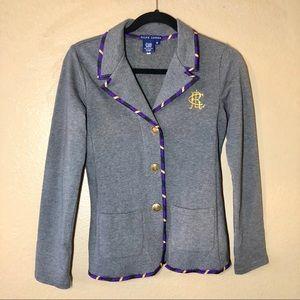 Ralph Lauren Monogramed Jersey Knit Blazer, Sz S